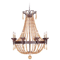 Berkshire 8 Light 34 inch Aged Bronze Textured Chandelier Ceiling Light