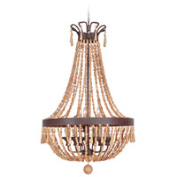 Berkshire 5 Light 28 inch Aged Bronze Textured Foyer Light Ceiling Light