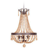 Jeremiah by Craftmade Berkshire 9 Light Pendant in Aged Bronze Textured 36839-AG