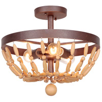 Jeremiah by Craftmade Berkshire 3 Light Semi-Flush in Aged Bronze Textured 36853-AG