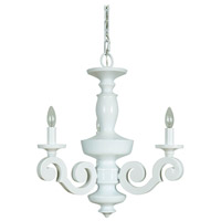 Craftmade 36923-GW Atelier 3 Light 22 inch Gloss White Chandelier Ceiling Light