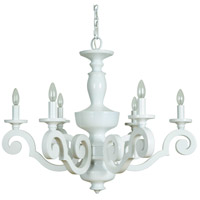 Craftmade 36926-GW Atelier 6 Light 32 inch Gloss White Chandelier Ceiling Light