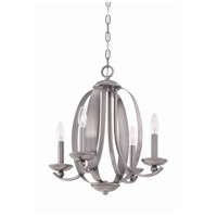Jeremiah by Craftmade Ensley 4 Light Chandelier in Antique Nickel 37024-AN