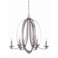 Jeremiah by Craftmade Ensley 6 Light Chandelier in Antique Nickel 37026-AN