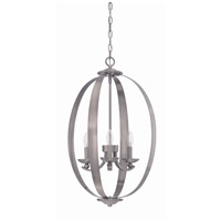 Jeremiah by Craftmade Ensley 3 Light Foyer Chandelier in Antique Nickel 37033-AN