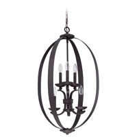 Ensley 6 Light 20 inch Aged Bronze Foyer Light Ceiling Light in Aged Bronze Brushed