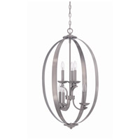 Ensley 6 Light 20 inch Antique Nickel Foyer Chandelier Ceiling Light