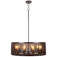 Jeremiah by Craftmade Blacksmith 10 Light Pendant in Matte Black Gilded 37190-MBKG