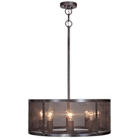 Craftmade 37198-MBKG Blacksmith 8 Light 25 inch Matte Black Gilded Pendant Ceiling Light