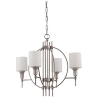 Jeremiah by Craftmade Meridian 4 Light Chandelier in Antique Nickel 37224-AN
