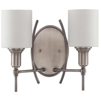 Meridian 2 Light 15 inch Antique Nickel Wall Sconce Wall Light