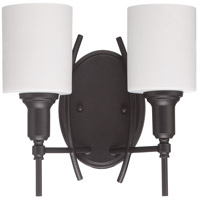 Jeremiah by Craftmade Meridian 2 Light Wall Sconce in Espresso 37262-ESP