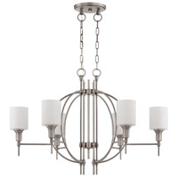 Meridian 6 Light 36 inch Antique Nickel Linear Chandelier Ceiling Light