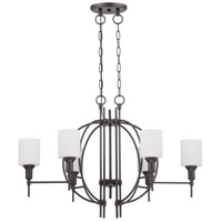 Meridian 6 Light 36 inch Espresso Linear Chandelier Ceiling Light