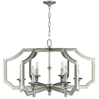 Lisbon 6 Light 34 inch Antique Nickel Chandelier Ceiling Light