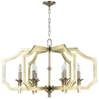 Jeremiah by Craftmade Lisbon 6 Light Chandelier in Legacy Brass 37316-LB