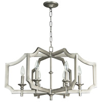 Craftmade 37326-AN Lisbon 6 Light 27 inch Antique Nickel Chandelier Ceiling Light