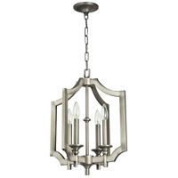 Lisbon 4 Light 15 inch Antique Nickel Foyer Light Ceiling Light