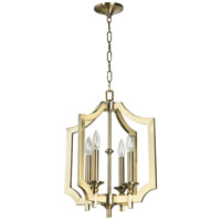 Jeremiah by Craftmade Lisbon 4 Light Foyer in Legacy Brass 37334-LB