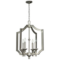 Jeremiah by Craftmade Lisbon 4 Light Foyer Chandelier in Antique Nickel 37344-AN