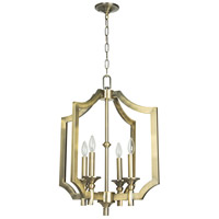 Lisbon 4 Light 21 inch Legacy Brass Foyer Chandelier Ceiling Light