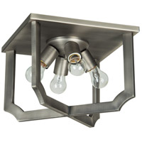 Lisbon 4 Light 16 inch Antique Nickel Flush Mount Ceiling Light
