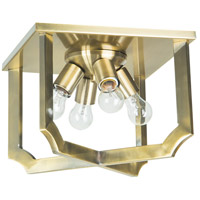 Jeremiah by Craftmade Lisbon 4 Light Flushmount in Legacy Brass 37384-LB