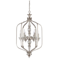 Jeremiah by Craftmade Laurent 6 Light Foyer in Polished Nickel 37436-PLN