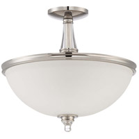 Jeremiah by Craftmade Laurent 3 Light Semi-Flush in Polished Nickel 37453-PLN