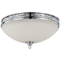 Saratoga 3 Light 17 inch Chrome Flushmount Ceiling Light in White