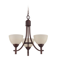 Jeremiah by Craftmade Hartford 3 Light Chandelier in Old Bronze 37623-OB