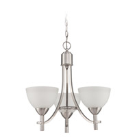 Jeremiah by Craftmade Hartford 3 Light Chandelier in Satin Nickel 37623-SN