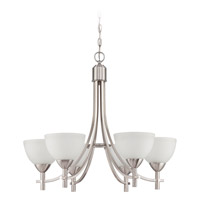 Jeremiah by Craftmade Hartford 6 Light Chandelier in Satin Nickel 37626-SN