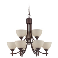 Jeremiah by Craftmade Hartford 9 Light Chandelier in Old Bronze 37629-OB