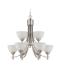 Jeremiah by Craftmade Hartford 9 Light Chandelier in Satin Nickel 37629-SN