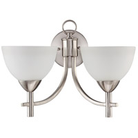 Jeremiah by Craftmade Hartford 2 Light Wall Sconce in Satin Nickel 37662-SN