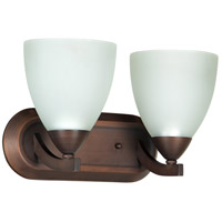 Almeda 2 Light 13 inch Old Bronze Vanity Light Wall Light in White Frosted Glass