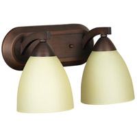 Craftmade 37702-OLB Almeda 2 Light 13 inch Old Bronze Vanity Light Wall Light in Creamy Frosted Glass