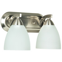Craftmade 37702-SN Almeda 2 Light 13 inch Satin Nickel Vanity Light Wall Light in Frost White