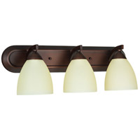 Almeda 3 Light 24 inch Old Bronze Vanity Light Wall Light in Creamy Frosted Glass