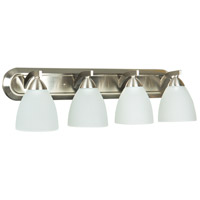 Craftmade 37704-SN Almeda 4 Light 30 inch Satin Nickel Vanity Light Wall Light in Frost White