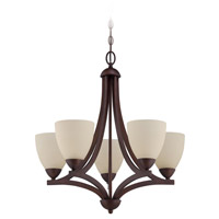Craftmade 37725-OLB Almeda 5 Light 24 inch Old Bronze Chandelier Ceiling Light in Creamy Frosted Glass alternative photo thumbnail