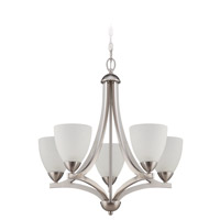 Craftmade 37725-SN Almeda 5 Light 24 inch Satin Nickel Chandelier Ceiling Light in Frost White alternative photo thumbnail