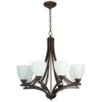 Almeda 8 Light 30 inch Old Bronze Chandelier Ceiling Light in White Frosted Glass