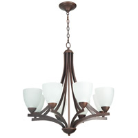 Almeda 8 Light 30 inch Old Bronze Chandelier Ceiling Light in Creamy Frosted Glass