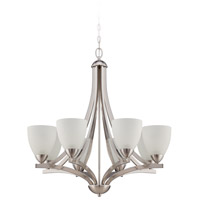 Craftmade 37728-SN Almeda 8 Light 30 inch Satin Nickel Chandelier Ceiling Light in Frost White