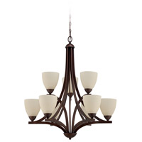 Craftmade 37729-OLB Almeda 9 Light 30 inch Old Bronze Chandelier Ceiling Light in Creamy Frosted Glass photo thumbnail