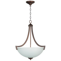 Craftmade 37743-OLB-WF Almeda 3 Light 20 inch Old Bronze Inverted Pendant Ceiling Light in White Frosted Glass