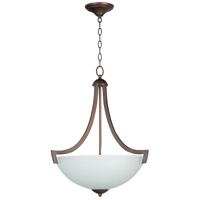 Almeda 3 Light 20 inch Old Bronze Inverted Pendant Ceiling Light in Creamy Frosted Glass