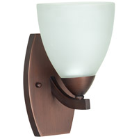 Almeda 1 Light 6 inch Old Bronze Wall Sconce Wall Light in White Frosted Glass